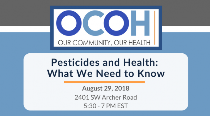 Our Community, Our Health National Town Hall on Pesticides and Human Health. Held on August 29th from 5:30p.m. to 7p.m. at HealthStreet.